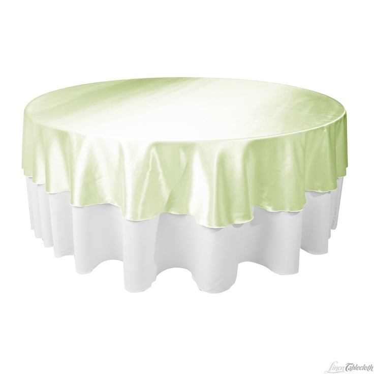 108 In. Round Satin Tablecloth / Overlay Tea Green At LinenTablecloth.com |  LINENS Green | Pinterest | Round Tablecloth