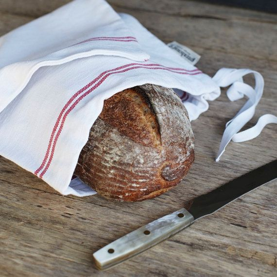 So tired of plastic for my storing my lovely breads.  Wonder if these could be made out of the kitchen towels from IKEA