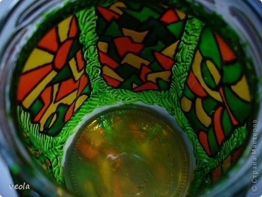 Декор предметов Витраж банки-склянки Банки стеклянные Стекло фото 7