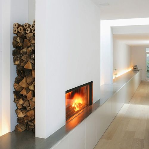 25 beste idee n over kachel hout muur op pinterest houtkachel decor en houtkachel - Deco originele muur ...