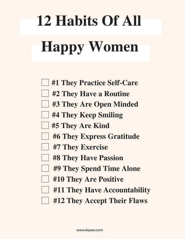 12 habits of all happy women