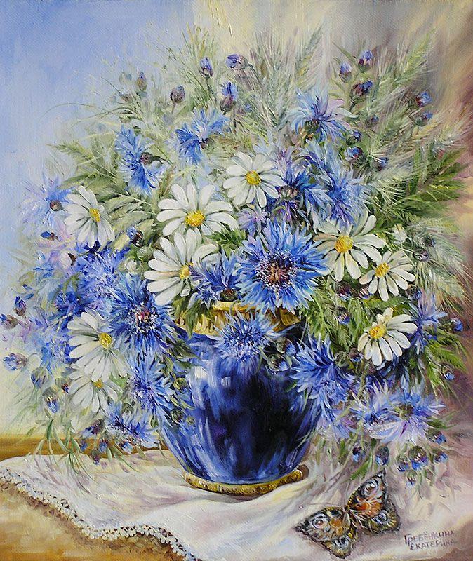 Картины - Цветы - Васильки (Холст, масло)