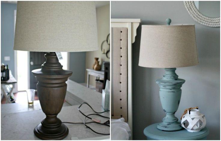 Chalk Painted Lamp love!!!!                      @Socially Savvy SEO Agency www.sociallysavvyseo.com
