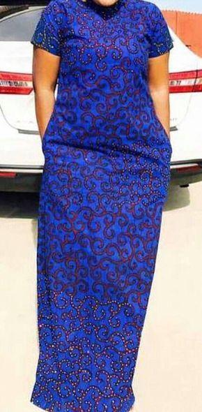 Robe maxi imprimer africaine avec pierres africaine vêtements