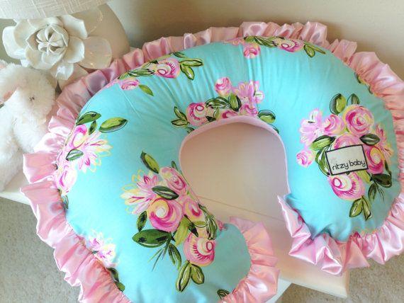 Bella Bouquet and Baby Pink Nursing Pillow by RitzyBabyOriginal