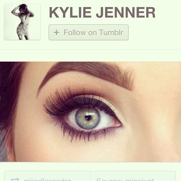 .@Jackie Godbold Godbold Hill   Oh my God! @Kylie Knapp Knapp Jenner re-blogged my makeup look! Sooo flattered!!