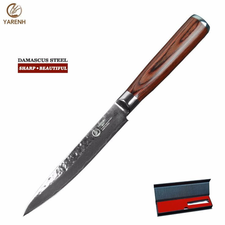 """>> Click to Buy << YARENH 5"""" best chef knife with pakka wood handle professional kitchen knives Japanese damascus steel Vegetable knives #Affiliate"""