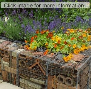 Gabion Walls Of Recycled Terracotta Pots Is Featured In The Real Rubbish  Garden By Claire Whitehouse, An Environmentally Friendly Garden With  Recycled ...
