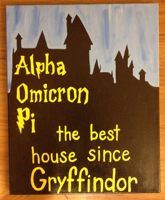 AOII Hogwarts Canvas on Etsy, $25.00
