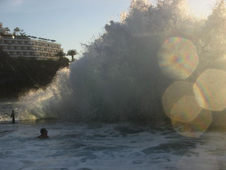 #Livelikejay Chasing Mavericks in Los Gigantes, Tenerife :)