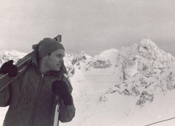 Krzysztof Komeda na nartach w Zakopanem, fot. ze strony komeda.pl/muzeum
