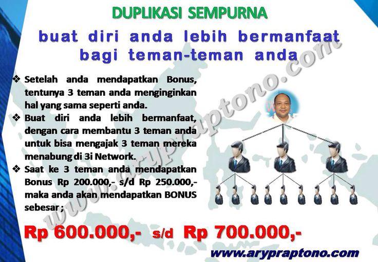 """""""Gerakan Sejuta Orang Menabung Cerdas""""  http://arypraptono.com/sekilas-3i-networks/"""