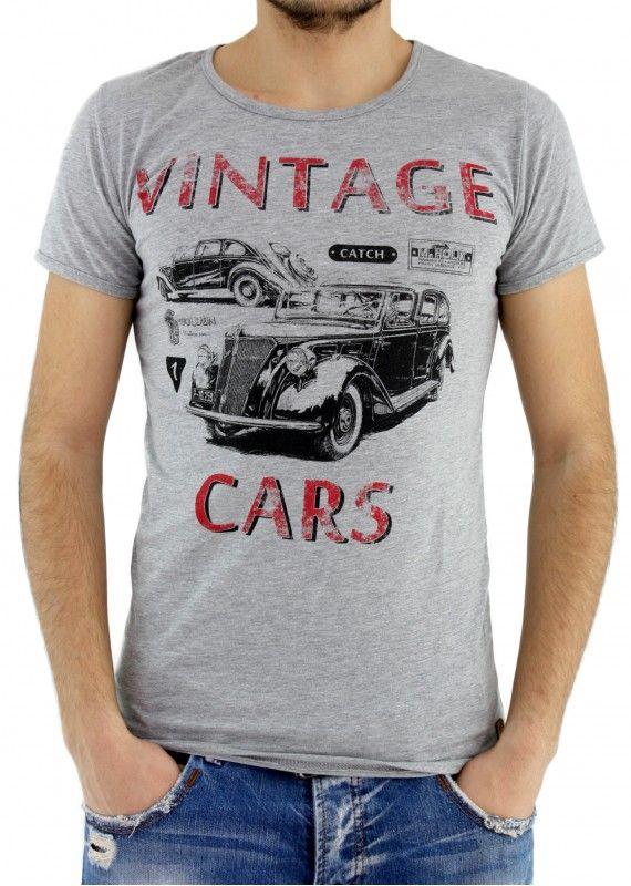 Kısa Kollu Araba Baskılı Tişört