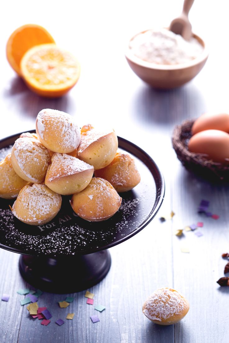Frittelle al forno: per un Carnevale light, senza rinunciare al gusto!  [Italian Carnival _ baked sweet fritters]