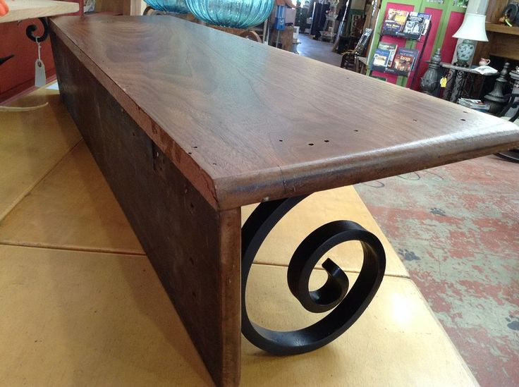 Wood & Iron shelf made from recycled materials