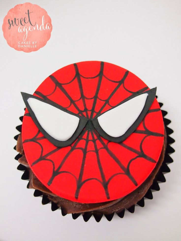 Fondant spiderman cupcake toppers - photo#20