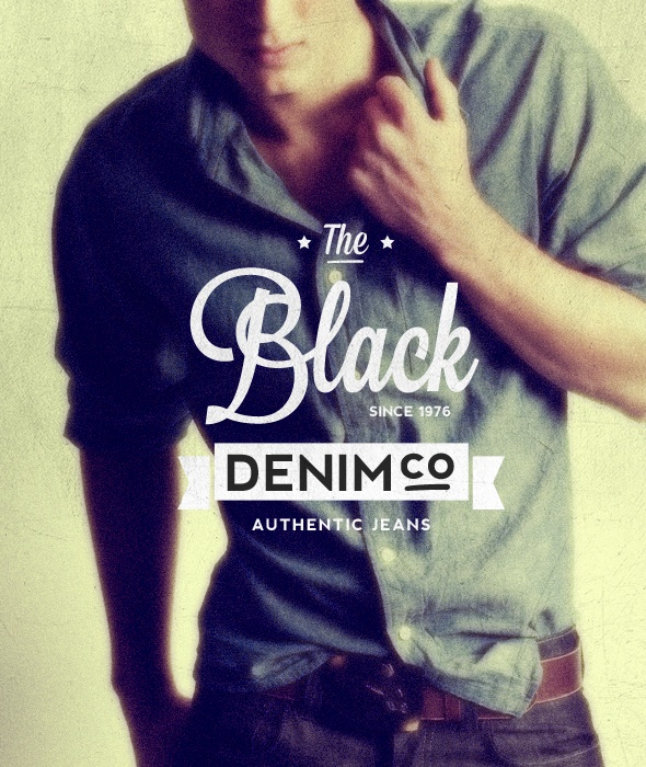 """Black Denim"" Buy from -http://graphicriver.net/item/premium-quality-8-vintage-labels-logo-badges/4622963?WT.ac=portfolio_1=portfolio_author=SAOStudio"