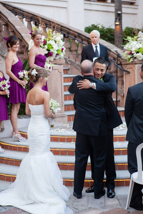 Purple and Green Wedding | Costa Mesa, CA Real Wedding by RomaBea Images