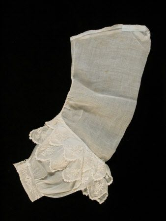 Circa 1850-55 muslin Victorian Engageante Undersleeve Killerton Fashion Collection © National Trust / Sophia Farley and Renée Harvey