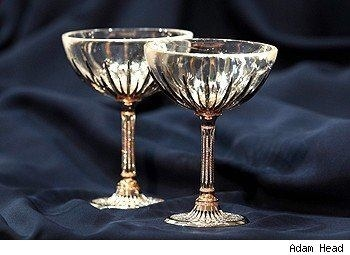 Expensive champagne glasses