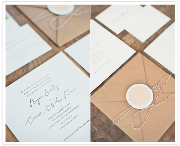 simple and clean white wedding invites