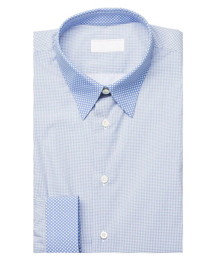 PRADA Prada Men'S Contrasting Pointed Collar Polka Dot Cotton Dress Shirt Blue'. #prada #cloth #dress shirts