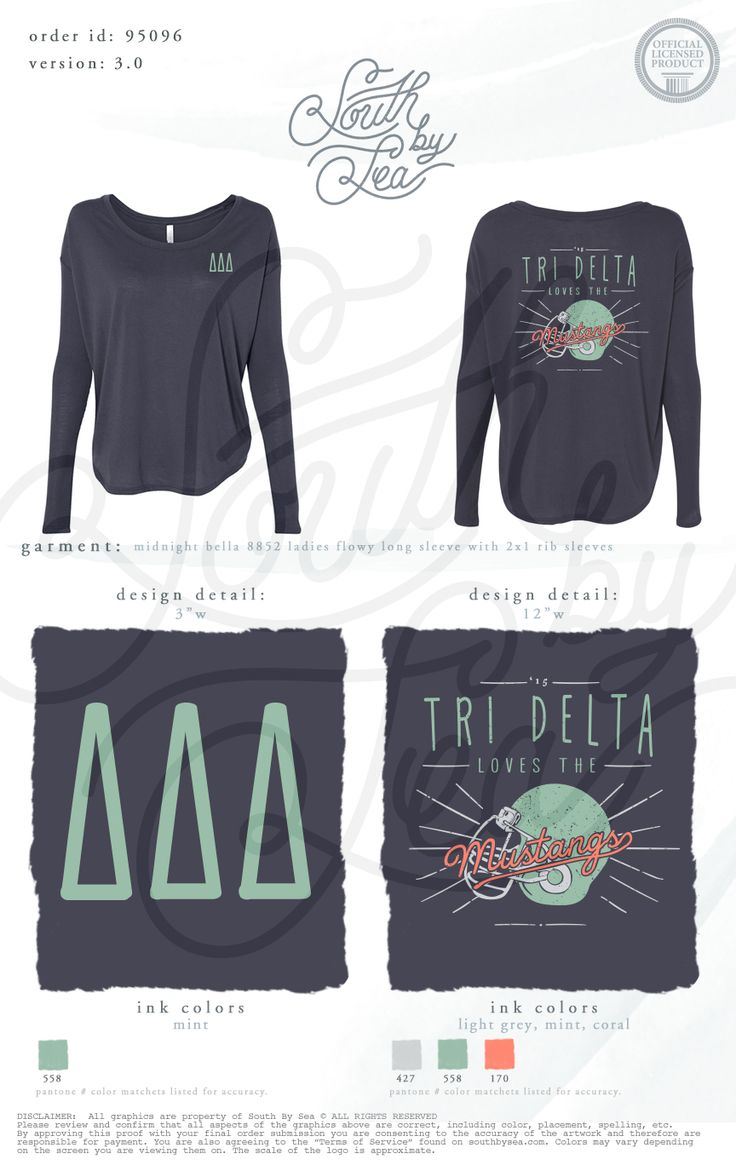 Tri Delta | Delta Delta Delta | Mustangs | Football | South By Sea | Greek.  Phi Mu ShirtsCheer ...