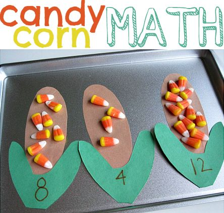 candy corn counting math activity for halloween