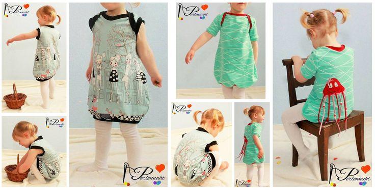 Ballonkleid für Kinder nähen - kostenlose Anleitung mit Schnitt für Größe 62 bis 110 - Ballonkleidchen bebilderte Nähanleitung, ganz einfach und schnell