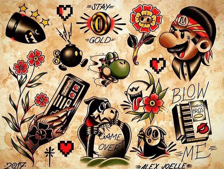 Gamer traditional flash /mario/Nintendo/traditional