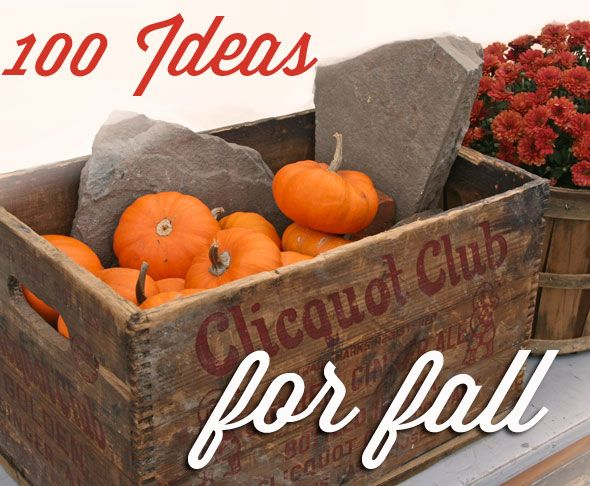 100 ideas for fall!
