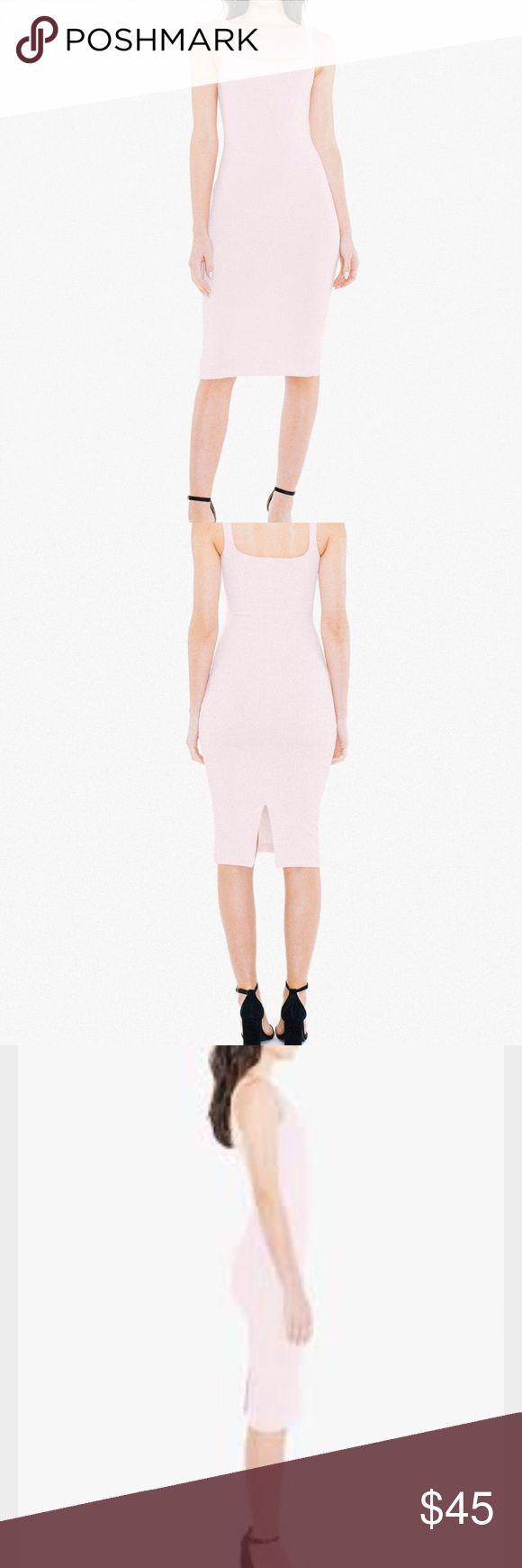 AMERICAN APPAREL PINK PONTE DRESS Pink bodycon dress brand new, never worn. American Apparel Dresses Midi