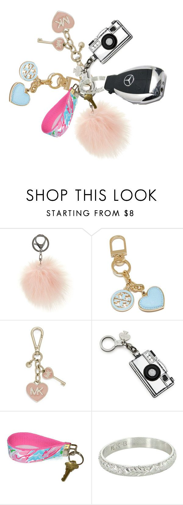 """""""Car Key Contest! Read D!"""" by hanahpeep ❤ liked on Polyvore featuring Adrienne Landau, Tory Burch, MICHAEL Michael Kors, Kate Spade, Lilly Pulitzer, Mercedes-Benz and livskeycontest"""