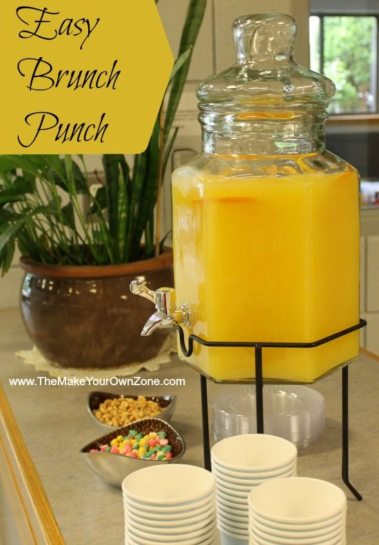 Quick and simple recipe for punch for brunch. Perfect for a bridal shower, a baby shower or any time you need a tasty punch for a large group.