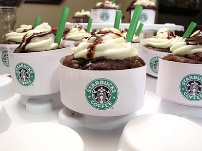 Starbucks! recipe for double chocolate chip frappuccino... in CUPCAKE form.