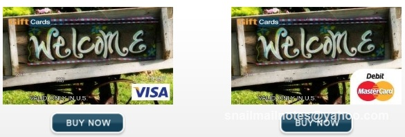 Miscellaneous Themed debit card. Visa or Mastercard gift card in any $ amount can be personalized by you. Photo by Paula Parks Fulford, aka SnailMailNotes & LoneStarLifer.