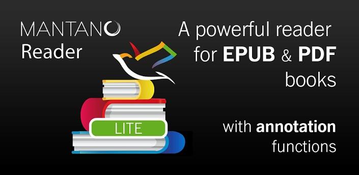 Mantano Ebook Reader Lite Gratis.  Lee, comenta, cualquier EPUB o PDF ebook con el lector de libros Android más potente, compatible con el DRM de Adobe.