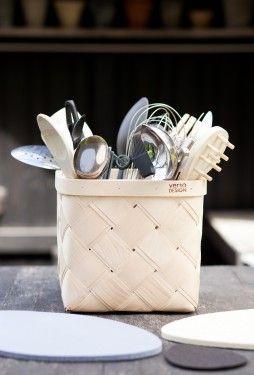 Verso Viilu Small Birch Basket | Finnish Design | www.homearama.co.uk | #verso #versodesign #birch #storage #finnishdesign