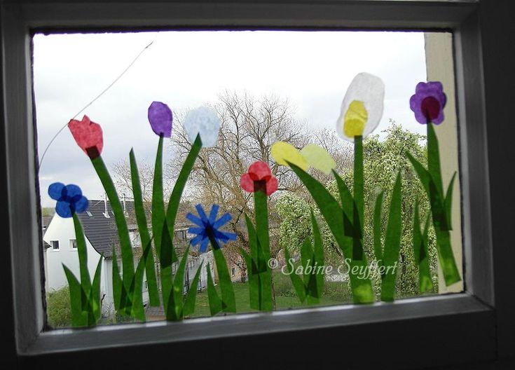 Frühlingswiese mit Kopierpapier und tapetenkleister