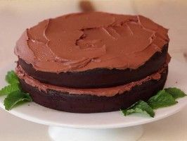 Black Bean Chocolate Cake with Buttercream Frosting from CookingChannelTV.com