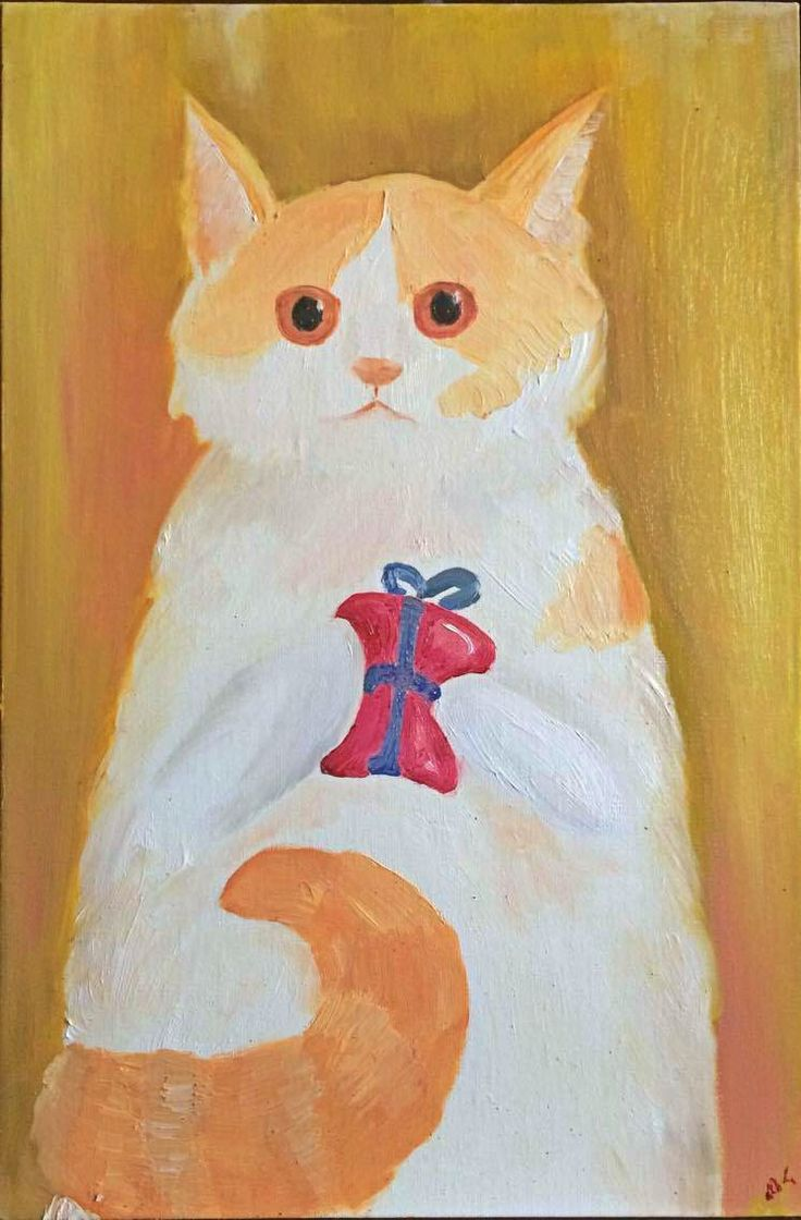 Custom Cat Painting , Oilcolor Painting , Pet portrait , pet painting , 20x30 cm , Cat oilcolor , Original cat painting by KubuHandmade on Etsy