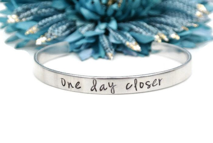 One Day Closer | Long Distance Relationship Hand Stamped Jewelry Deployment Gift For Her Countdown LDR Love | Hand Stamped Aluminum Bracelet by AshleyLorrenDesigns on Etsy https://www.etsy.com/listing/254385100/one-day-closer-long-distance