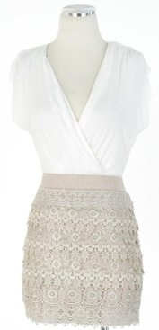 WOW! Ive been using this new weight loss product sponsored by Pinterest! It worked for me and I didnt even change my diet! I lost like 26 pounds,Check out the image to see the website, Love the Lace!: Spring Dresses, Style, Cute Dresses, Closet, White Blouses, Rehear Dinners, Lace Dresses, Cute Skirts, Lace Skirts