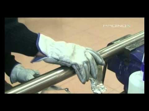 PROINOX - Pulido y satinado en tubo redondo de acero inoxidable - YouTube