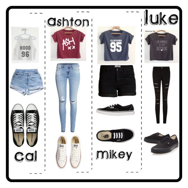"""""""5SOS preference???"""" by heyitscj5sos ❤ liked on Polyvore featuring H&M, Pieces, Converse, Vans, 5sos, 5secondsofsummer and 5sosoutfits"""
