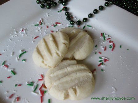 """The Perfect Gluten Free Shortbread Cookie. Find this recipe and many more in my FREE ebook """"The Gluten Free Holiday Survival Guide"""" ---> http://sherilynjoyce.com/gluten-free-holiday-recipes/"""
