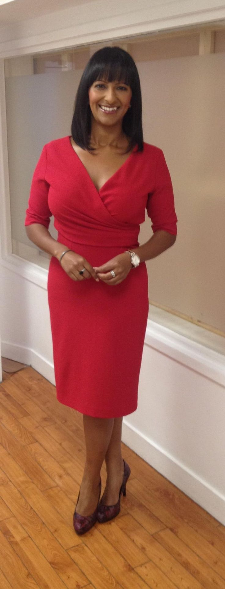 .@GMB @ranvir01 wearing @FeeGClothing dress @MarksAnSpencer shoes! #styledbydeb