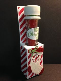 Christmas Stockings Thinlits, Hang Your Stocking, Test Tube Holder Tutorial Holiday Gift, Stocking Stuffers, Stampin' Up!, Rubber Stamping, Handmade Gifts