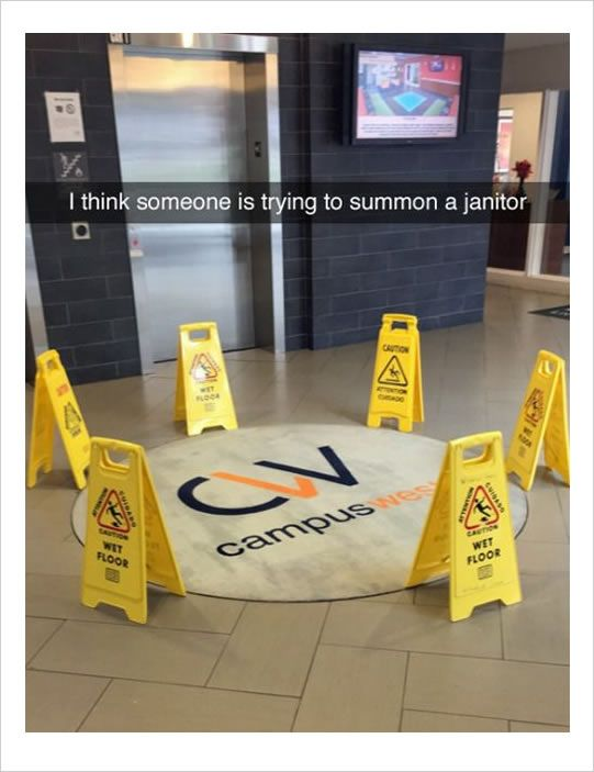 someone trying to summon janitor