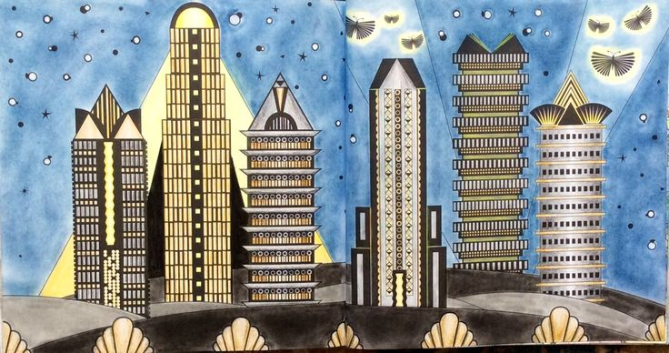 Skyscrapers From Dream Cities By Alice Chadwick ColouringColoring Books SkyscrapersDream